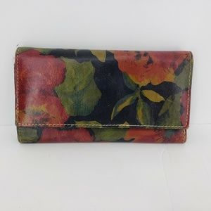 Patricia Nash Floral Tri-Fold Wallet Leather